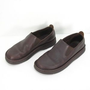 POLO RALPH LAUREN BROWN OIL LEATHER LOAFERS 10.5 D